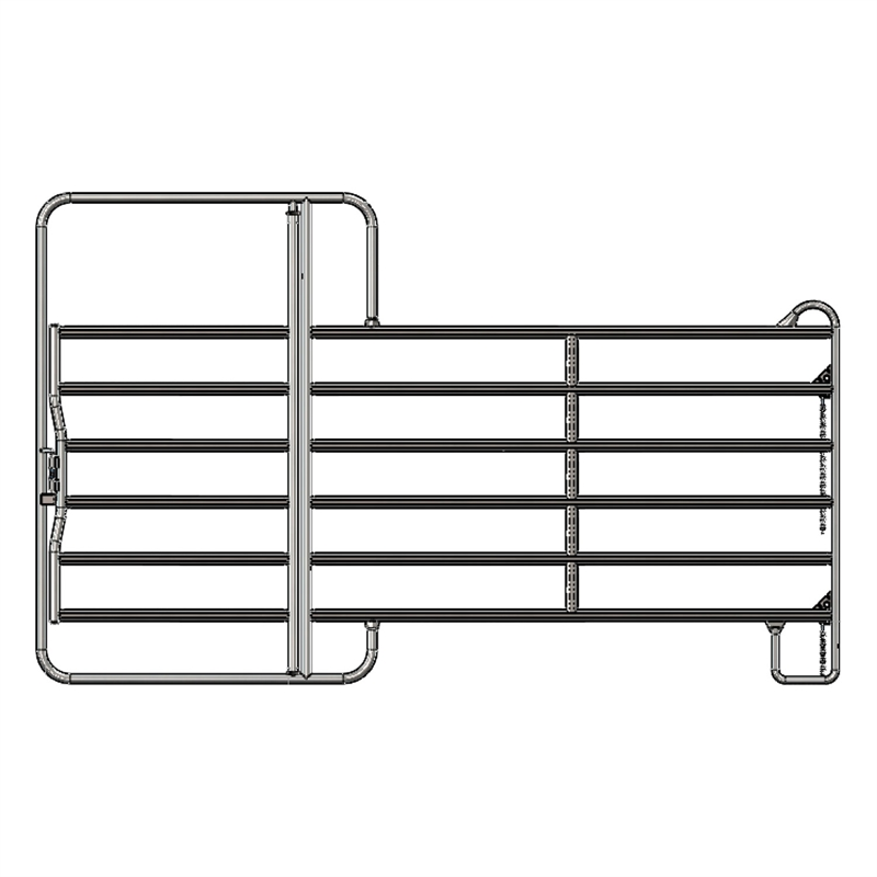 weidepanel mit tor 3 6m. Black Bedroom Furniture Sets. Home Design Ideas