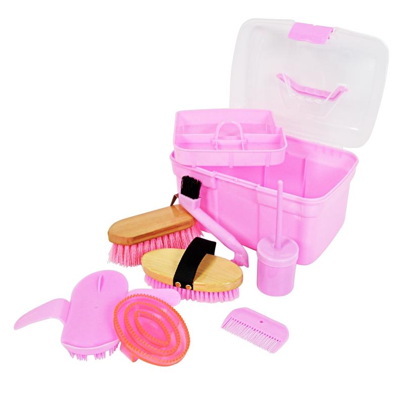 500802-2-Pflegeset-Utensilien-Pferde-fuer-Kinder-Putzbox-rosa.jpg
