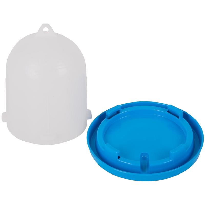 Wachteltränke mit Bajonettverschluss 1,5 l blau/weiß