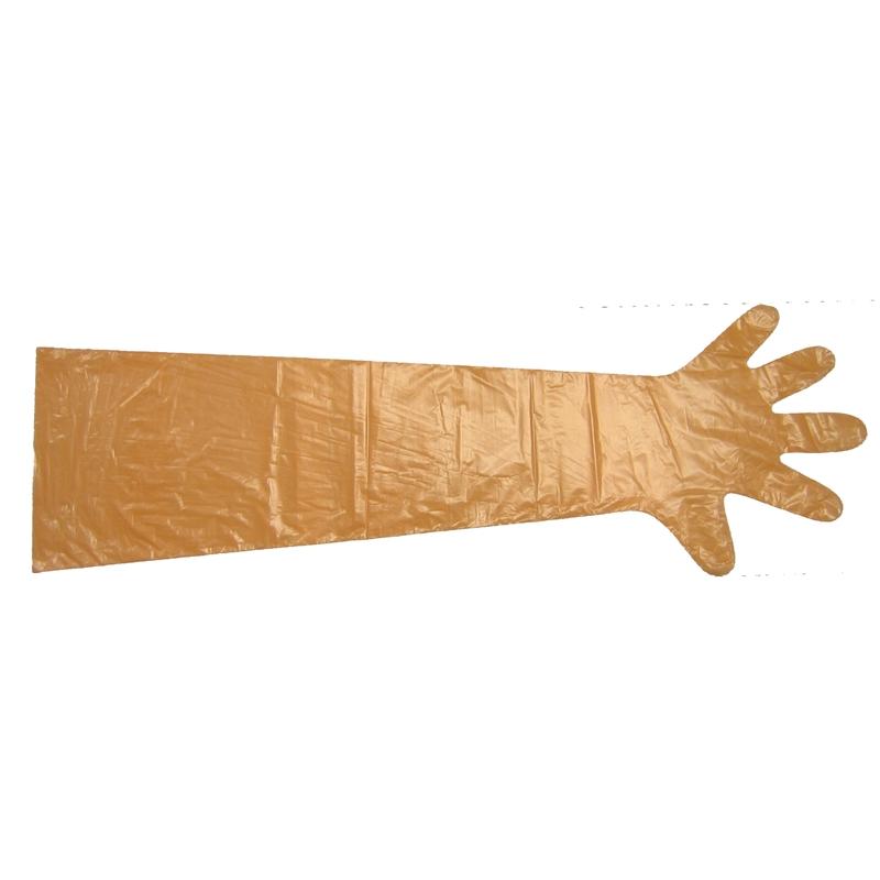 """Kerbl Einmalhandschuhe """"VETbasic"""", 90cm Länge, 100 Stück, orange"""