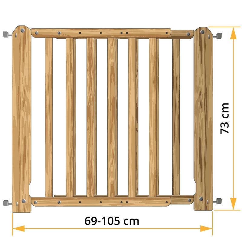 hunde absperrgitter sicilia t rgitter f r hunde h he ca 73cm verstellbar ca 69 105cm. Black Bedroom Furniture Sets. Home Design Ideas