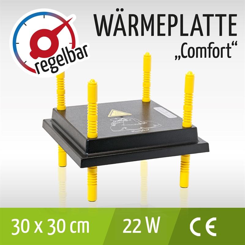 Wärmeplatte 25x25cm mit Regler Küken  Geflügel Hühner Reptilien sparsam
