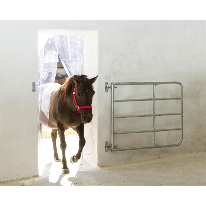 pvc streifenvorhang set 130 cm breit k lte und zugluftschutz f r stall paddock und halle. Black Bedroom Furniture Sets. Home Design Ideas
