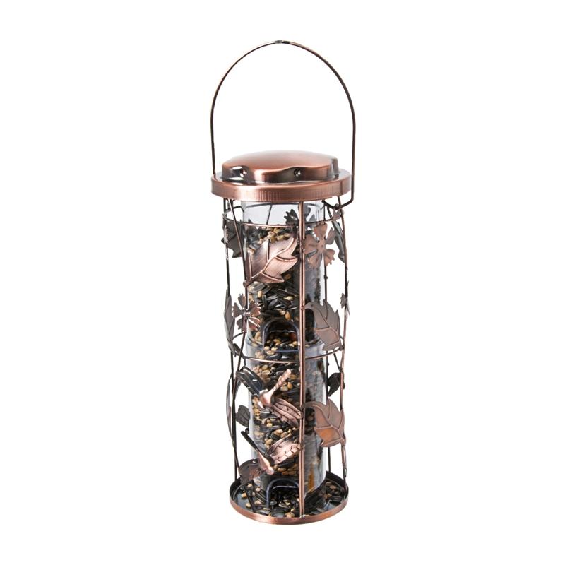 Perky Pet Birdscapes - Copper Garden Vogelfutterspender, Vogelhaus im herbstlichen Kupfer-Look