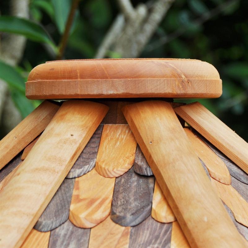 riesengro es vogelhaus mit standfu a massivholz vogelh uschen futterhaus vogel ebay. Black Bedroom Furniture Sets. Home Design Ideas