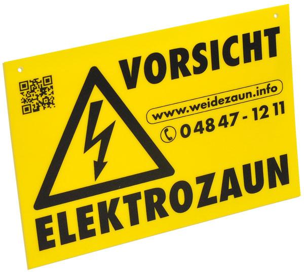 Sehr gutes Warnschild! UV-beständig! Warnfarbe!