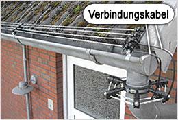 Den optimalen Gebäudeschutz erreichen Sie mit den zusätzlichen Dachrinnenabsicherung.