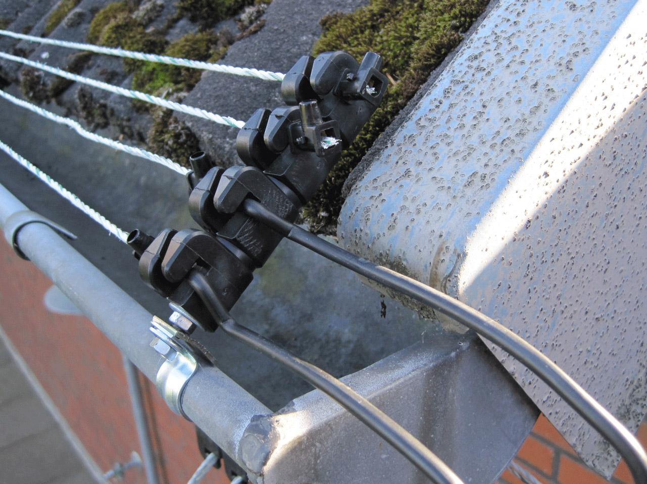 Marderbekämpfung, der Isolator ist einfach und schnell installiert.