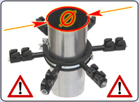 Please note: we can deliver the downpipe barrier in two different diameters!