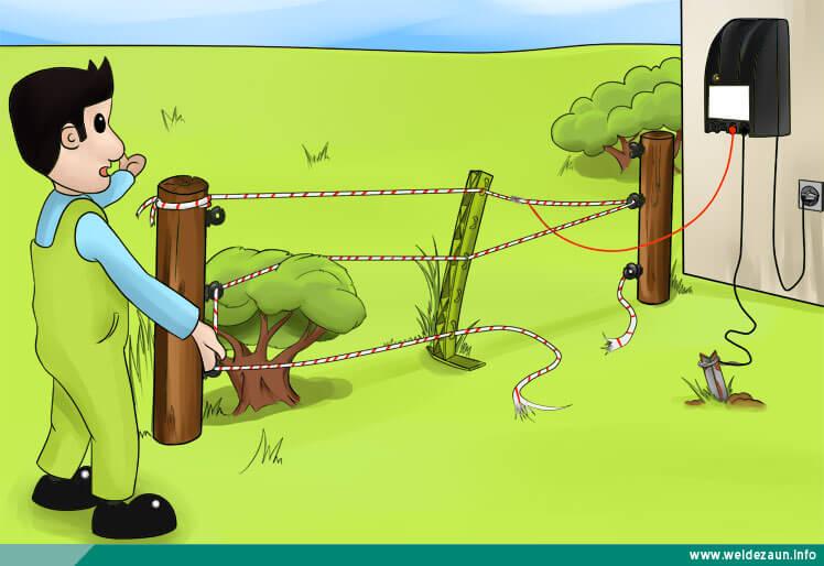 Ableitungen am Elektrozaun