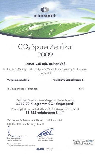 Weidezaun.info spart CO2 ein - 2009