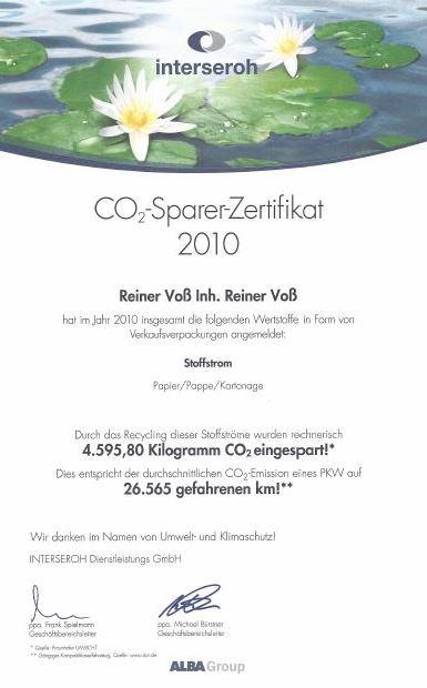 Weidezaun.info spart CO2 ein - 2010