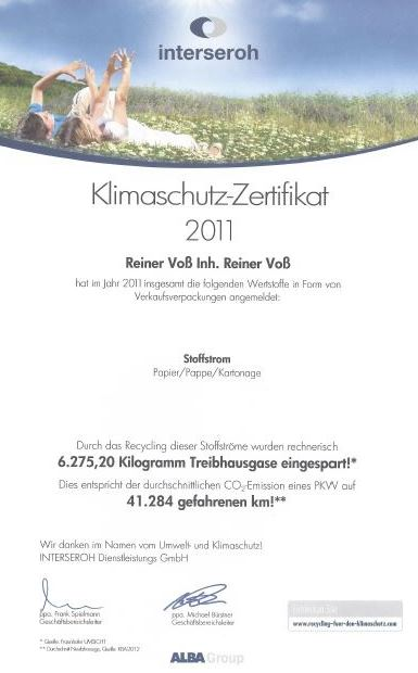 Weidezaun.info spart CO2 ein - 2011