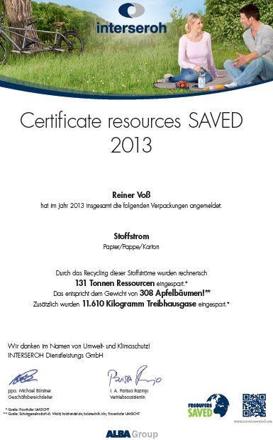 Weidezaun.info spart CO2 ein - 2013