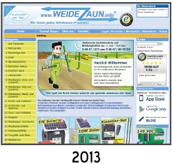 Weidezaun Internet-Chronik