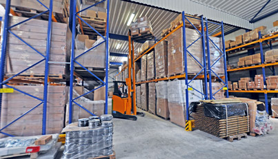 Weidezaun-Logistikzentrum in Viöl - Innenansicht